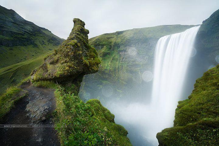 Beboy photographies Ma participation pour le concours photo sur le thème des cascades. Ici c'est la cascade Skógafoss en Islande. #MimWaterfalls