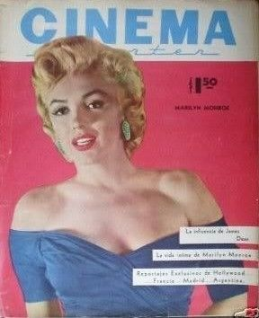 Cinema Reporter - 1960, magazine from Mexico. Front cover photo of Marilyn Monroe by Frank Powolny, 1953