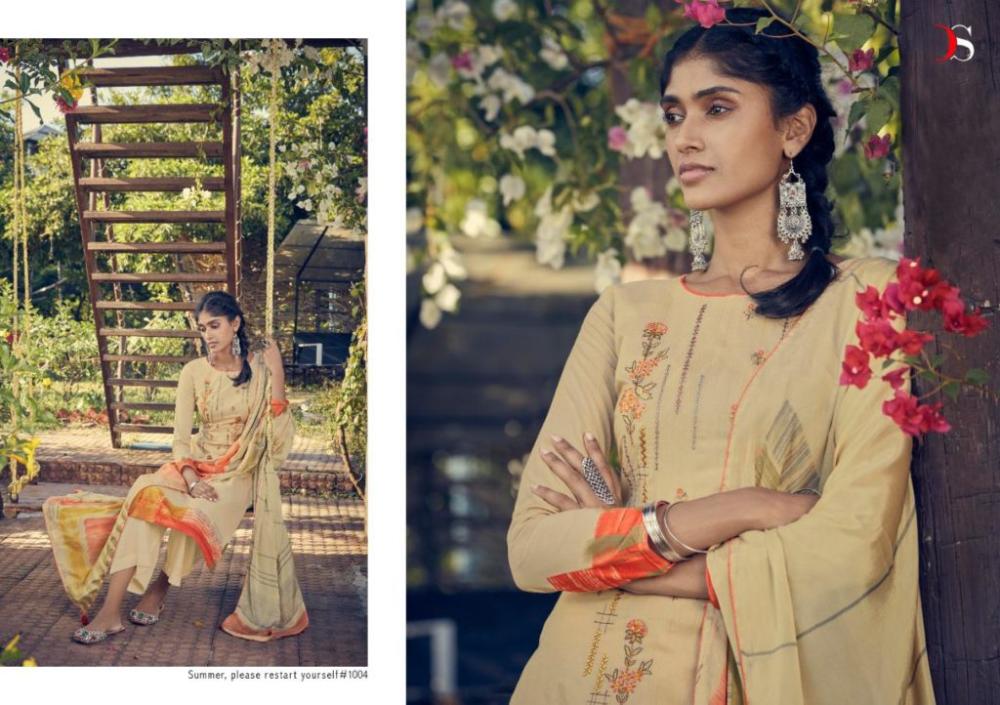 Deepsy the summer 1001-1006 series pure cotton embroider salwar kameez surat wholesale price – Wholesaleyug
