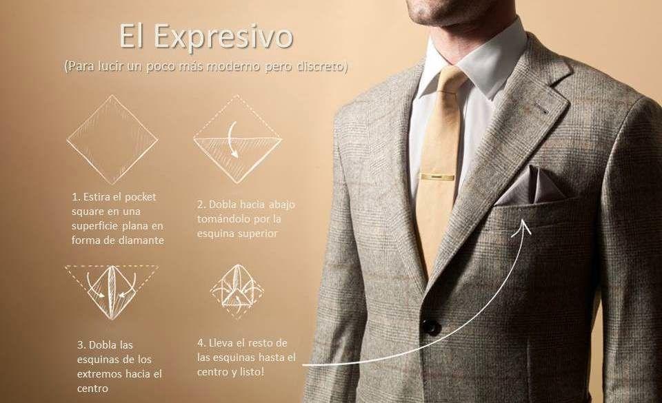 mayor selección de gran inventario completo en especificaciones Cómo doblar el pañuelo de bolsillo (pocket square) ~ El Blog ...
