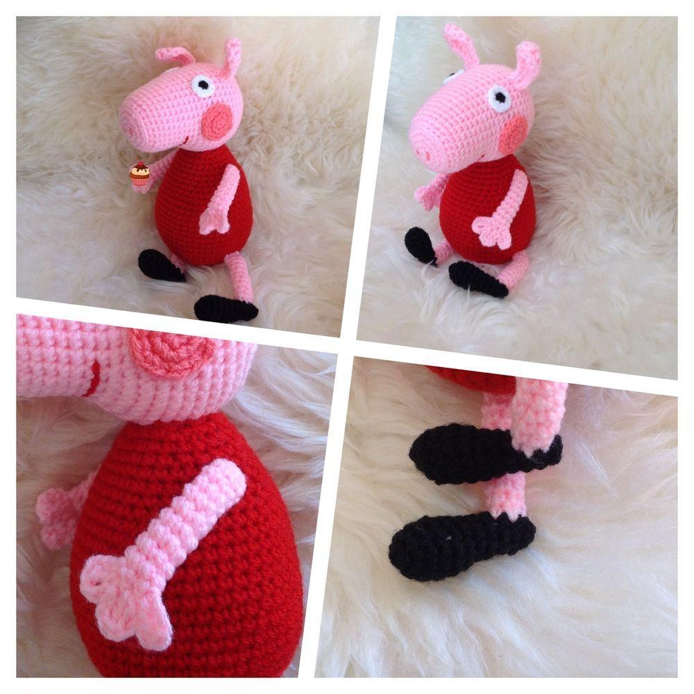 Peppa Wutz Peppa Pig Spielzeug Kuscheltiere Häkeltier Amigurumi In