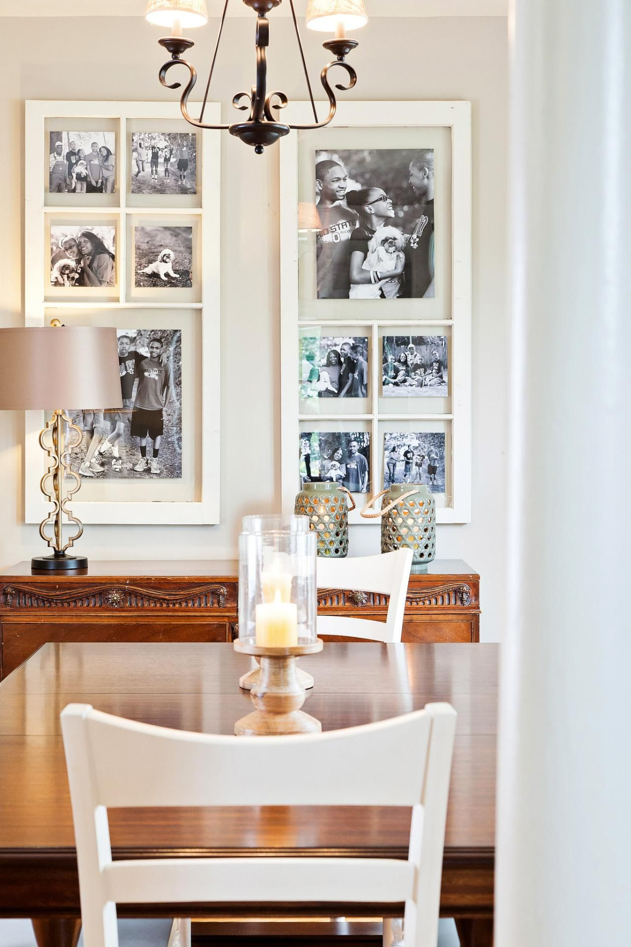 Host Nicole Curtis Of Rehab Addict Salvaged Old Windows From A Entrancing Picture Frames For Dining Room Inspiration