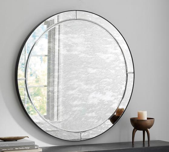 8ccb82e6cc2 Walker Antiqued Round Glass Mirror