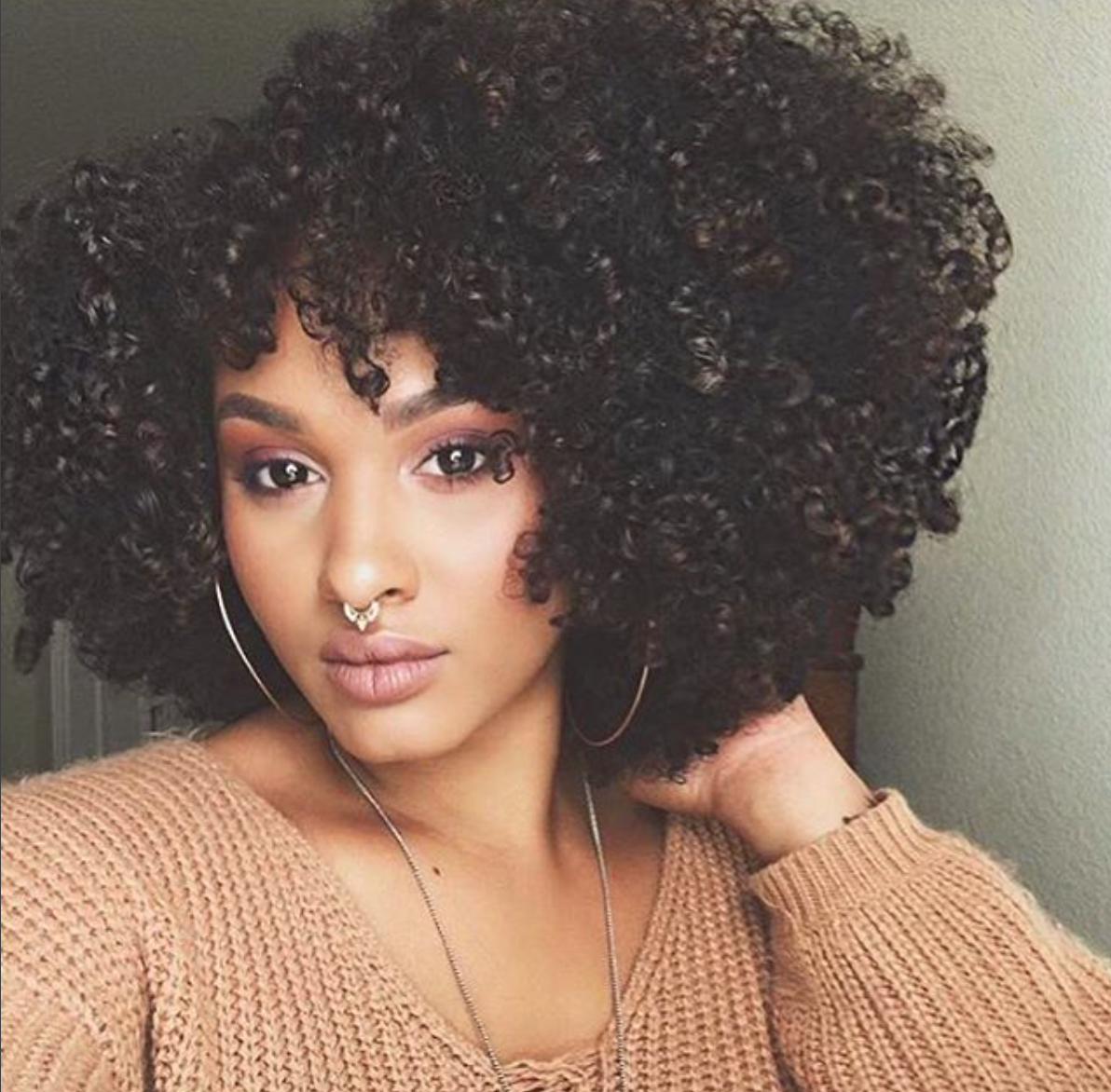 Nose piercing for big nose  Gorgeous fro curvesncurlsxo Read the article here