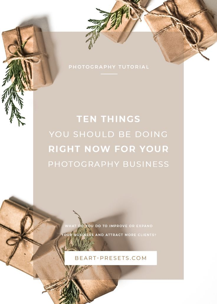 Ten things you should be doing right now for your