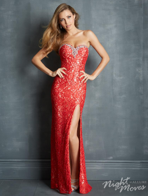 Lacing the trends for prom 2014 with this elegant Night Moves Prom Dress #ipaprom #promdress