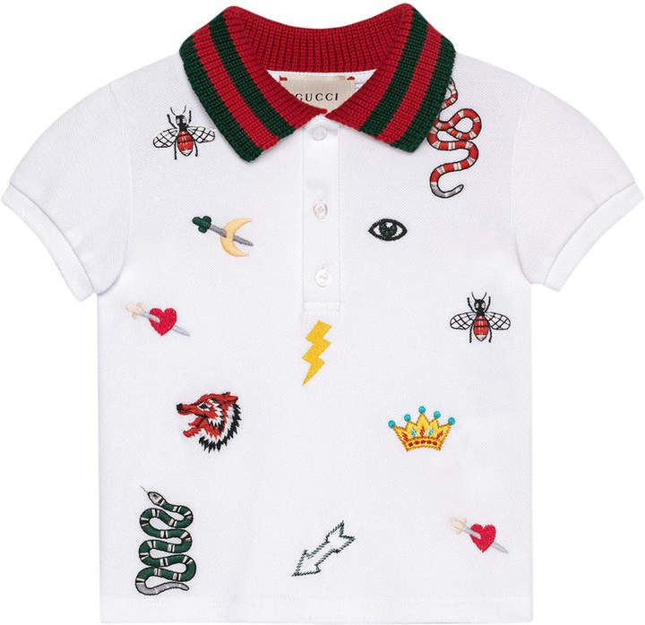 dc1dbad19d7 Gucci Kids Baby polo with symbols embroidery