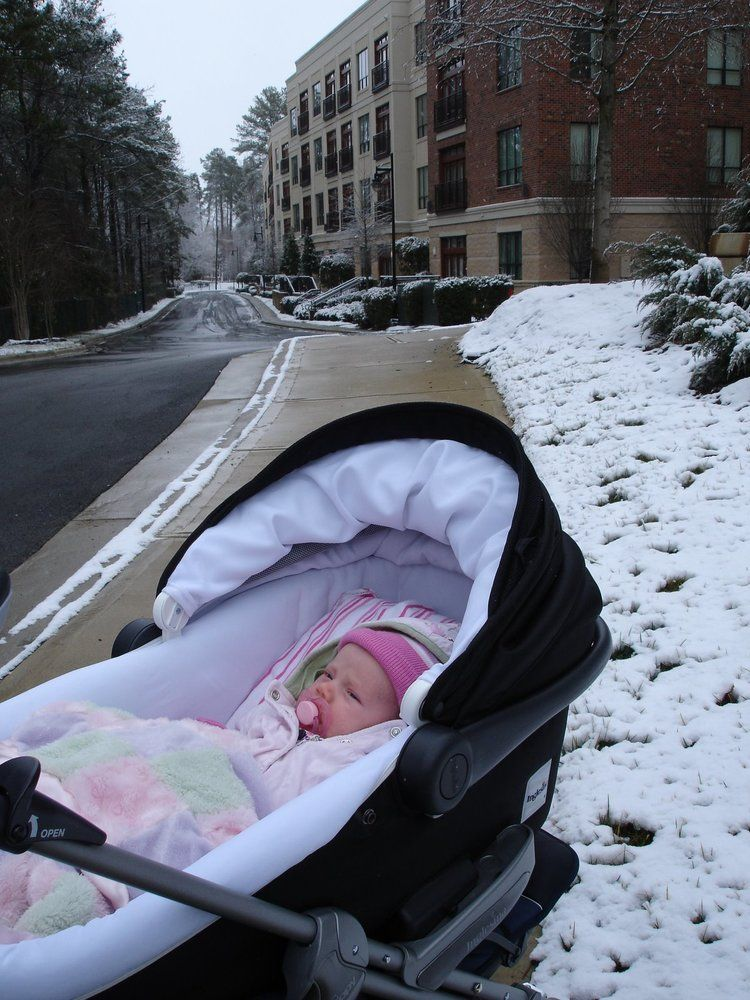 Ella 1 Month Newborn baby out in the snow