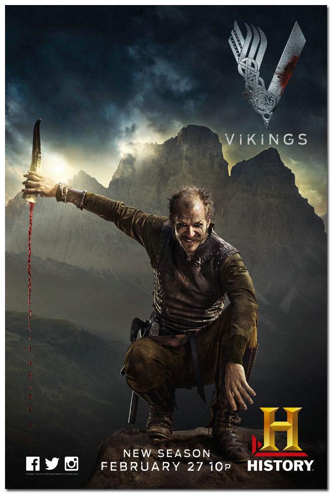 Vikings Season 4 New TV Series Art Silk Poster Print 13x20 24x36 inch