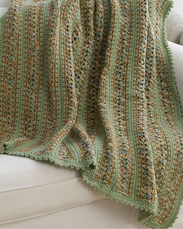Free Country Home Throw Crochet Pattern From RedHeart.com | Afghan ...