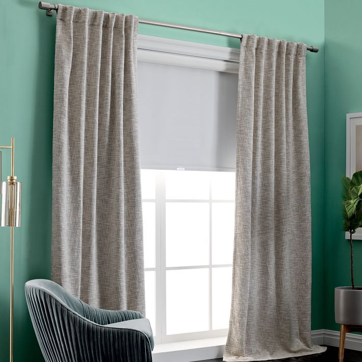 Cotton Textured Weave Curtain Amp Blackout Lining Ivory With