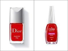 Esmalte vermelho clássico! | 40 versões mais baratas de produtos de beleza que viraram hit