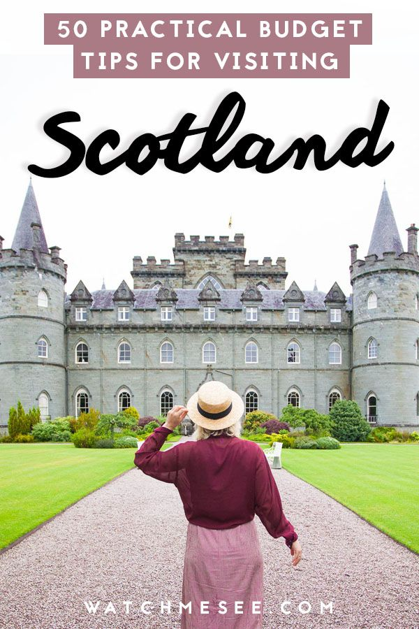 Travel Scotland without breaking the bank! These 50 practical money saving tips will show you how to travel Scotland on a budget! #travelscotland