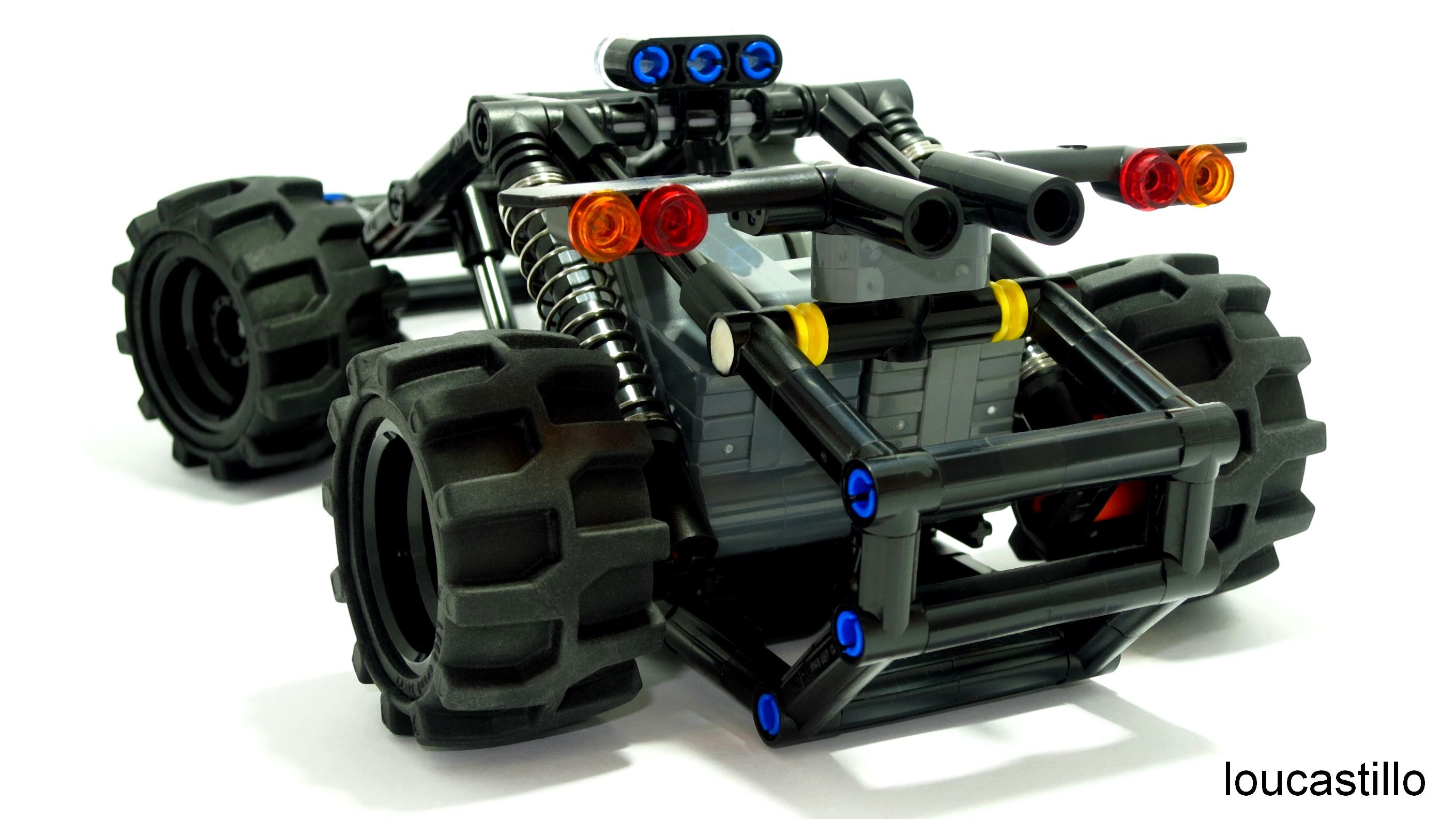 lego technic rail buggy dual pull back motors moc my. Black Bedroom Furniture Sets. Home Design Ideas