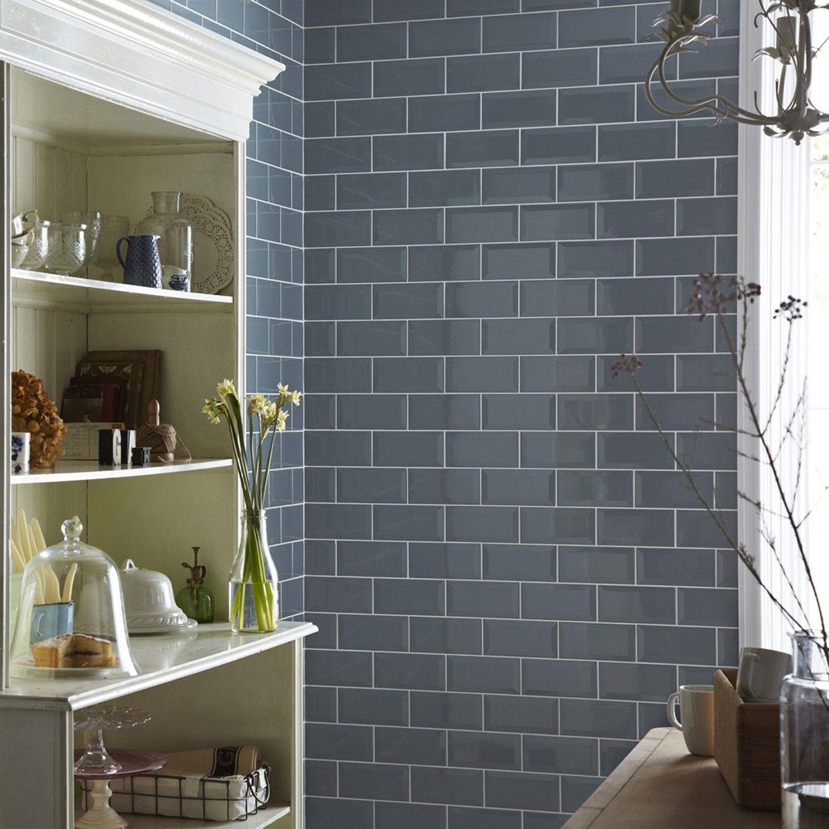 20x10 New Biselado Mineral Mist Kitchen Wall Tiles