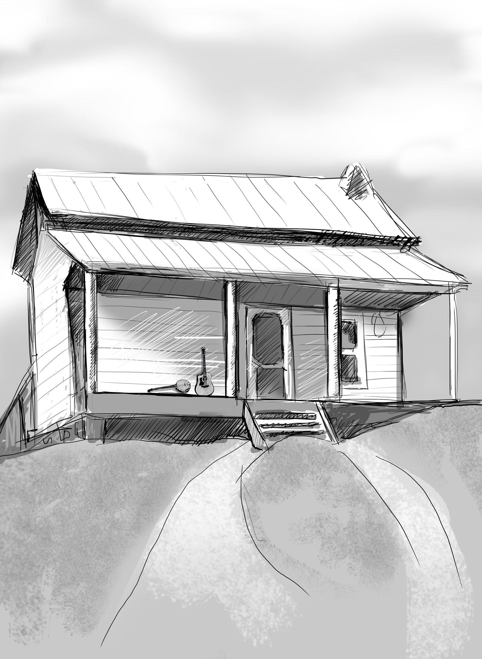 Doc Watson S House In Deep Gap North Carolina Circa 1960 Beautiful Drawing By Kristina Tosic Will Be In The Third Doc Watson Beautiful Drawings Beautiful