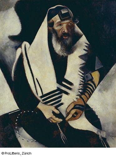 Marc Chagall Der Jude in Schwarz-Weiss Basel