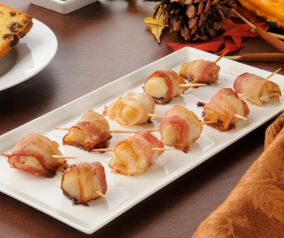 Air Fryer, Easy Bacon Wrapped Scallops Fork To Spoon