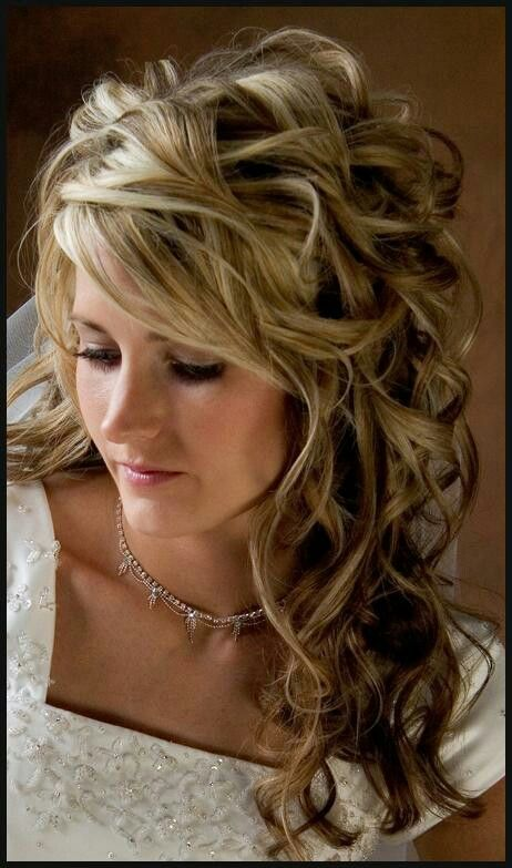 A Curly Hairstyle For A Party Or Special Occasion Wedding Hairstyles For Long Hair Prom Hairstyles For Long Hair Curly Wedding Hair