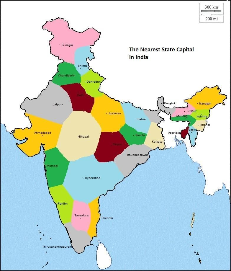 state of india map Indian Regions As Per Nearest State Capitals India Map state of india map