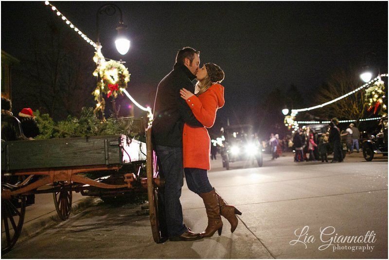 Greenfield Village Christmas.Christmas Inspired Engagement Session The Henry Ford