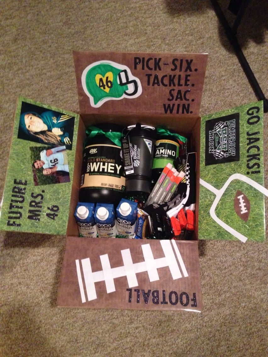 College Football Care Package Football Boyfriend Gifts