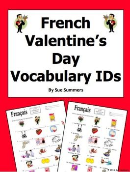 French valentines day vocabulary ids worksheet jour de saint french valentines day vocabulary ids worksheet jour de saint valentin by sue summers students voltagebd Gallery