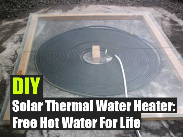 diy solar thermal water heater free hot water for life energy pinterest solaire. Black Bedroom Furniture Sets. Home Design Ideas
