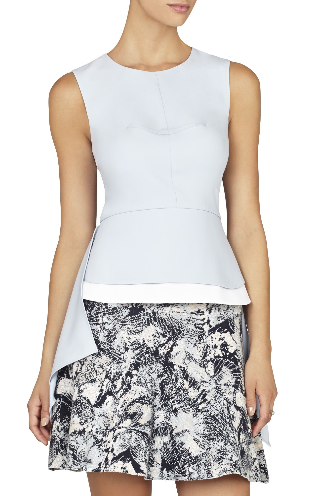 ceb3b2ecf763 BCBGMAXAZRIA Ariana High-Low Sleeveless Top | BCBG.com | Shorts and ...