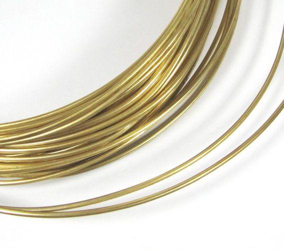 Red Brass Wire Big Round Gold Wire 10 Gauge Wire 10 Ft Of 10 Gauge Cuff Wire Bangle Wire Gold Gold Wire Rings Cool Wire Bangles