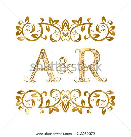 A R Vintage Initials Logo Symbol Letters A R Ampersand Surrounded Floral Ornament Wedding Or Business Partn Initials Logo My Name Wallpaper Picture Letters