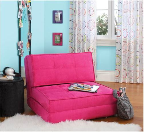 Fold Down Chair Flip Out Lounger Convertible Sleeper Bed Couch Guest ...