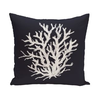 16 x 16-inch Coral Reef Geometric Print Outdoor Pillow