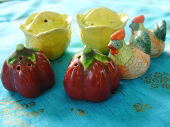 Retro Rooster Salt and Pepper Shakers by THEVERMONTSHOP on Etsy, $16.00