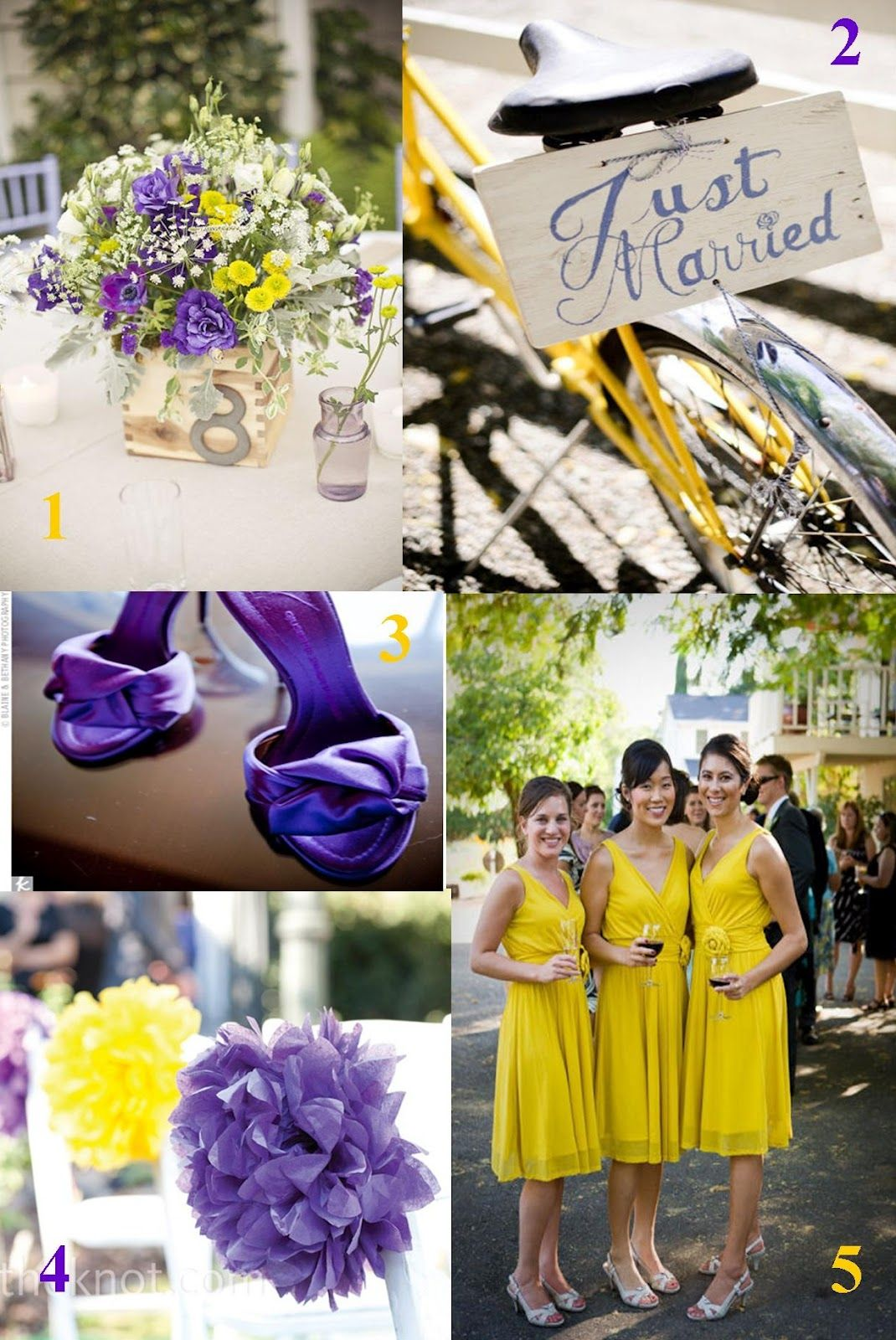 Purple And Yellow Wedding Idea Photos Showcasing The Best
