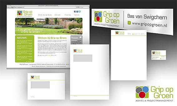 Ontwikkeling logo, huisstijl, visitekaartje en website