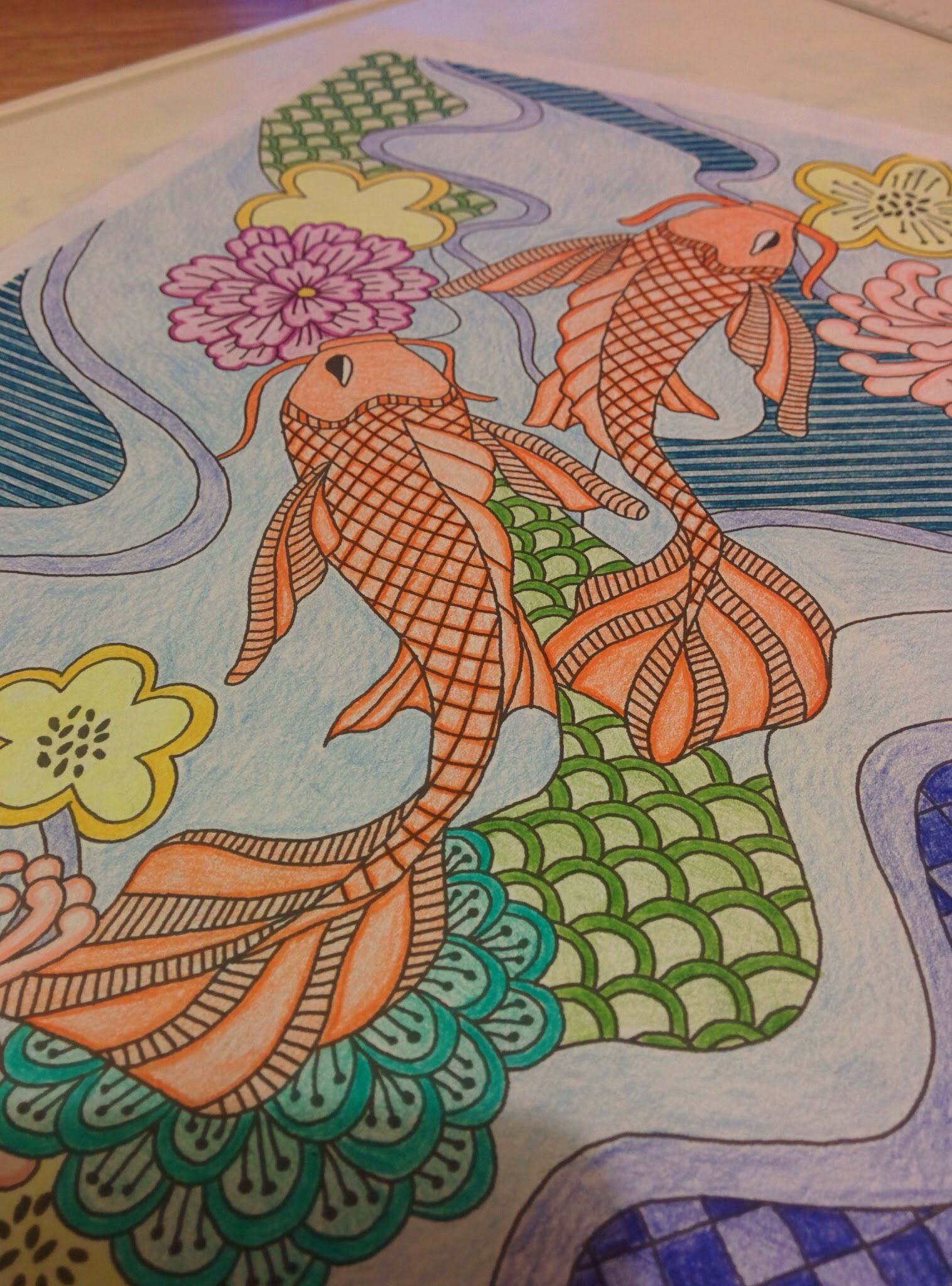 Creative Colouring Patterns : Creative colouring for grown ups japanese patterns