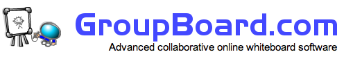 Collaborative online whiteboard software