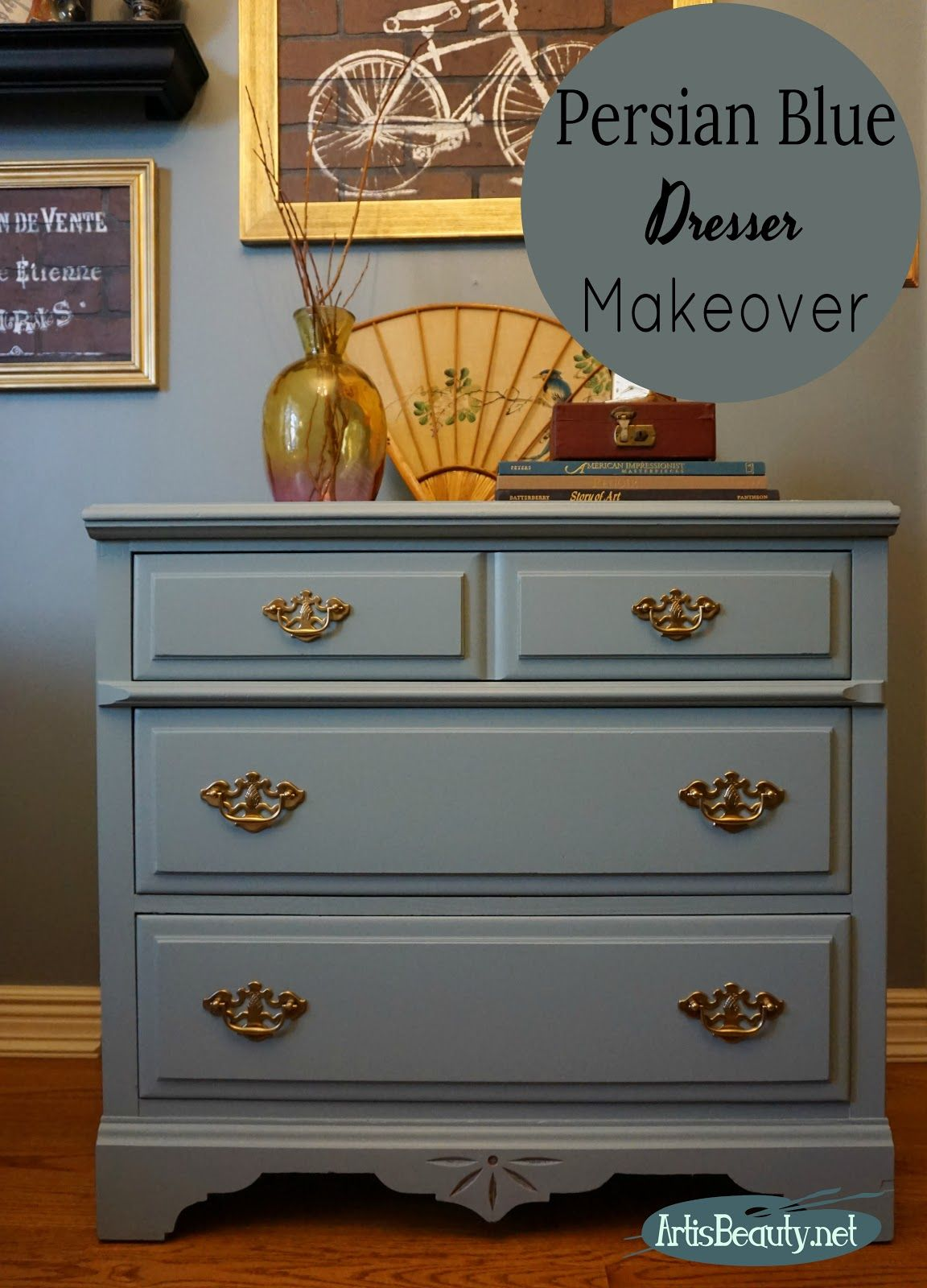 Art Is Beauty Small Dresser Given A Regal Makeover Revamp Furniture Small Dresser Furniture Makeover