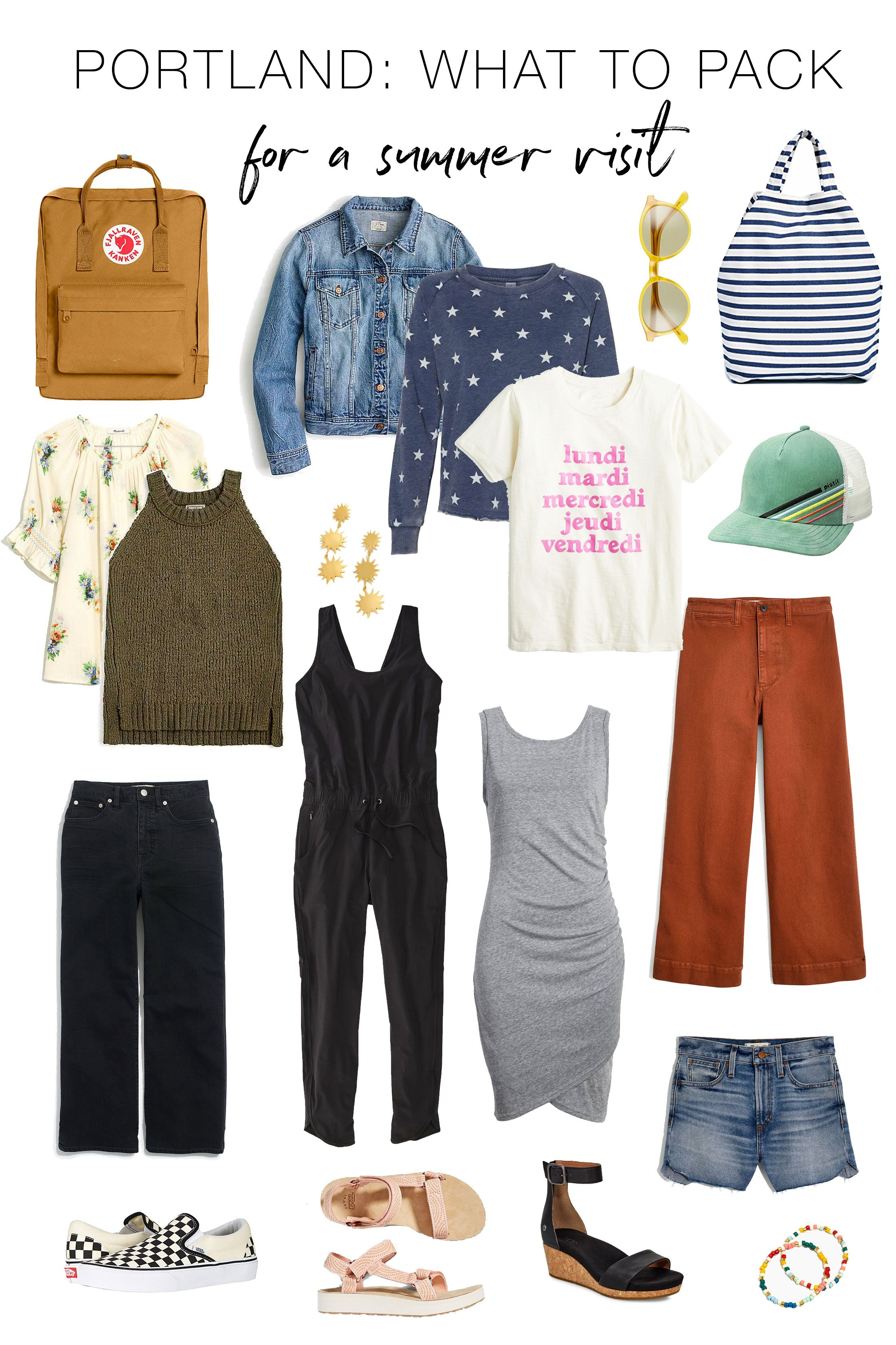 Packing List: Visiting Portland In Summer #travelwardrobesummer