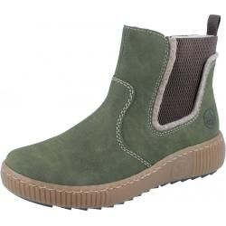 Photo of Rieker Z6654-54 ankle boot green RiekerRieker