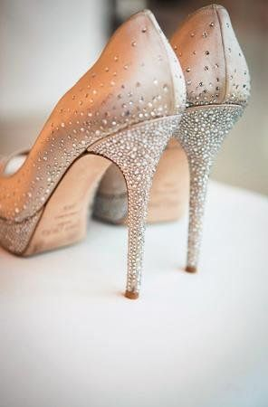 Delightful Sparkly Champagne Wedding Shoes By Jimmy Choo (forget Wedding Shoes These  Puppies Need Wearing Everywhere!!)