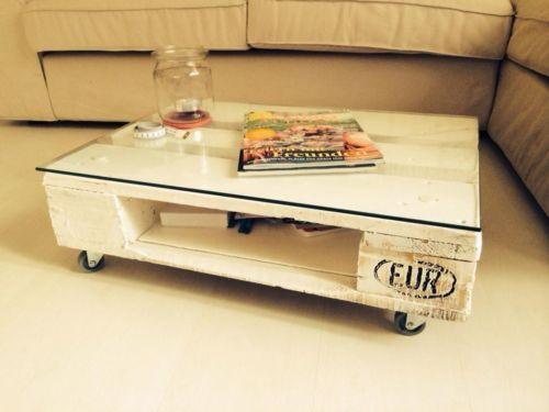 Tisch Europalette, Wohnzimmertisch, Palette, weiß, Unikat! in Köln - wohnzimmertisch weis