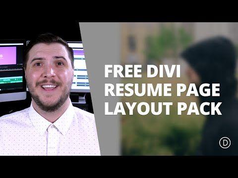 Free Divi Download Resume Pages Layout Pack Elegant Themes Blog - online resume download