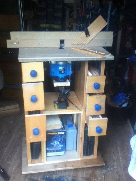 Homemade router table and a car jack as a router lift by homemade router table and a car jack as a router lift by woodworkercollins lumberjocks woodworking community keyboard keysfo Gallery
