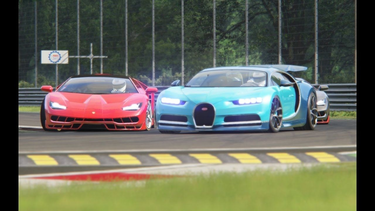 Battle Bugatti Chiron x Lamborghini Centenario Racing at Monza ...