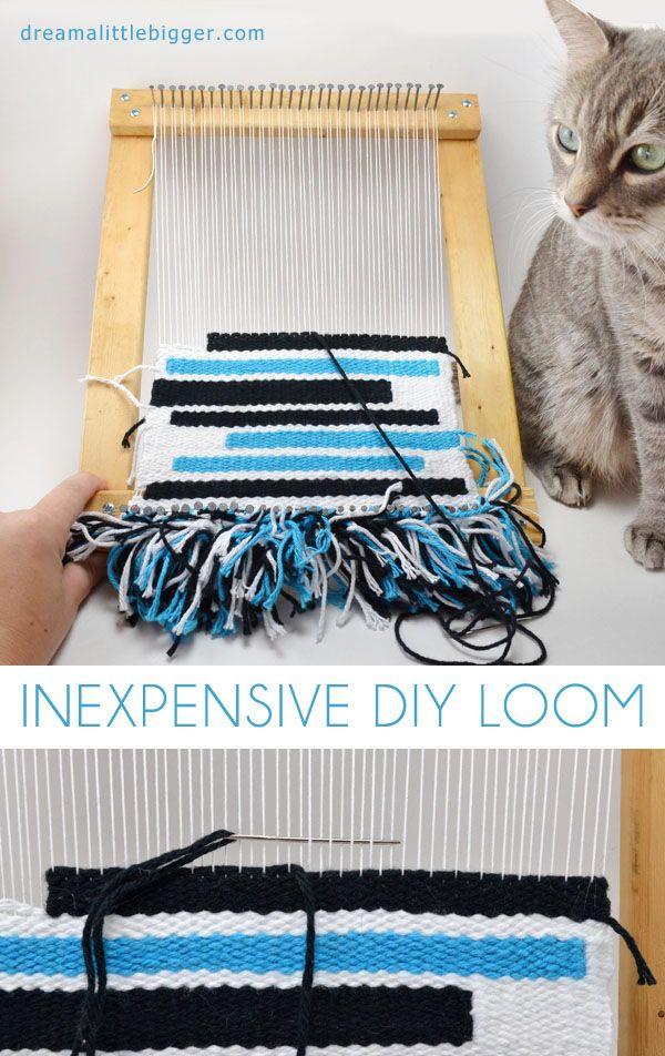 Inexpensive DIY Loom | Weben, Webrahmen und Brettchenweben