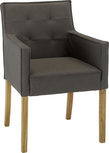 schlicht stilvoll und bequem stuhl im lederlook in grau st hle pinterest st hle. Black Bedroom Furniture Sets. Home Design Ideas
