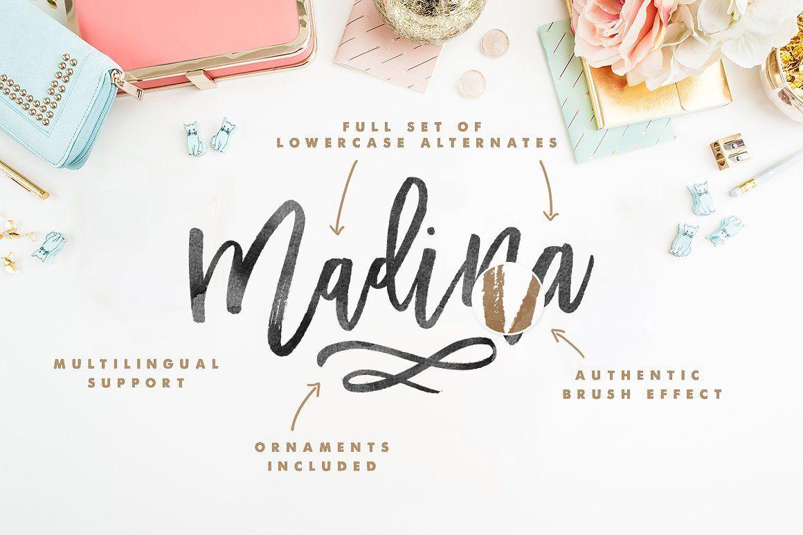 Madina Script Extras Free Download Elegant Script Fonts