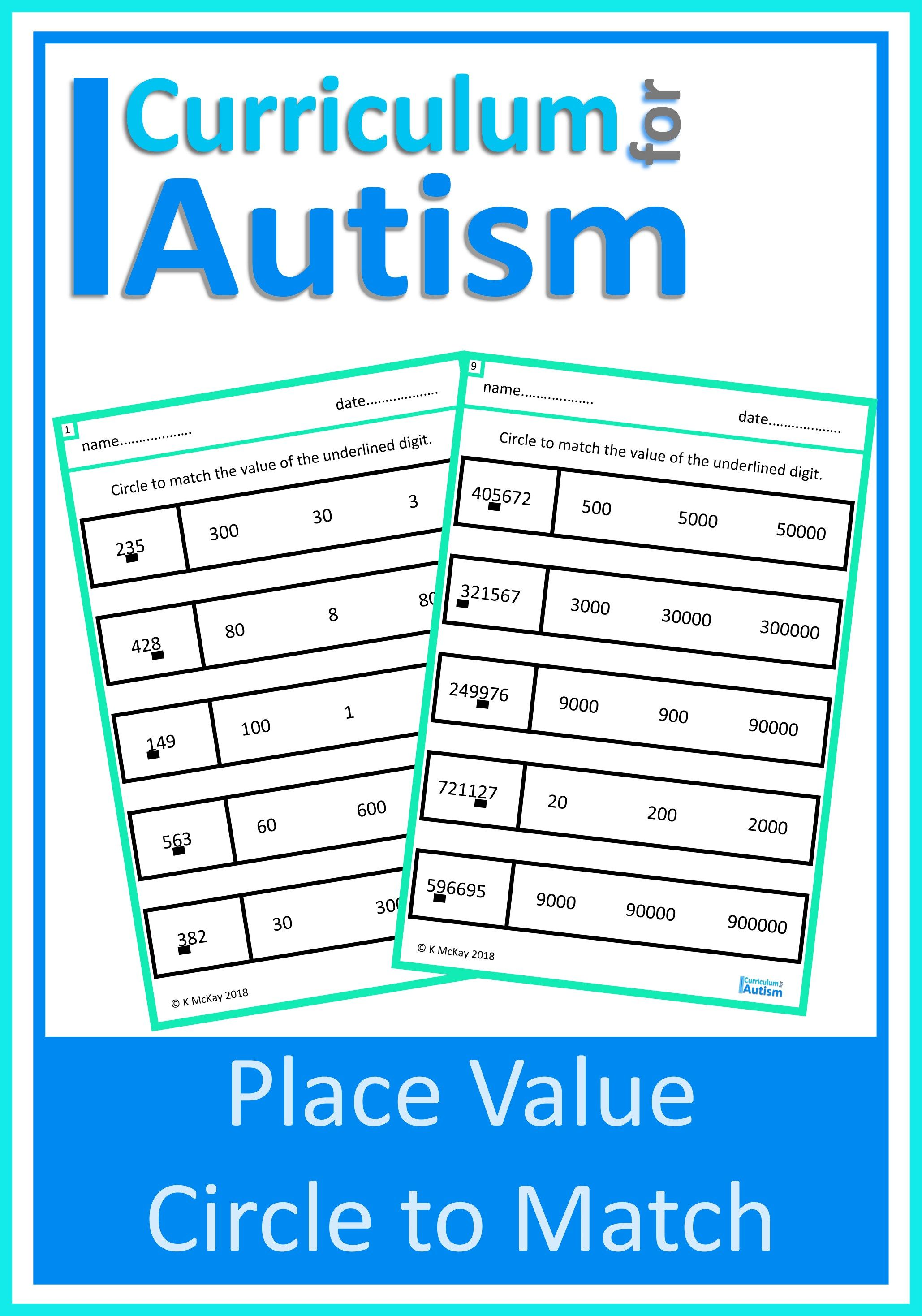 Place Value Match Worksheets
